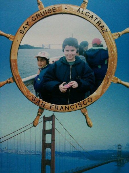 TacTac et David le correspondant américain à San Francisco, avril 1992.